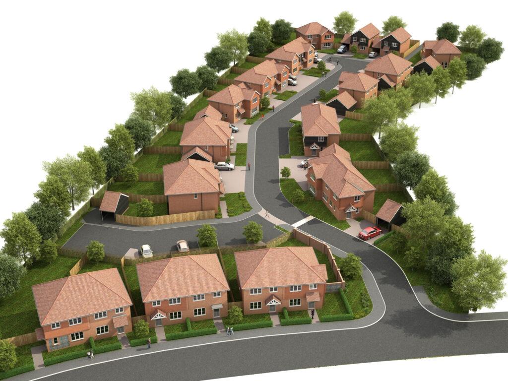 Twenty six houses Manston, Kent